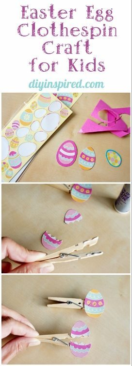Easy Clothespin Craft for Preschoolers