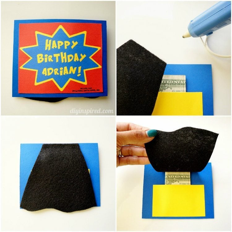 Diy Superhero Birthday Card Diy Inspired