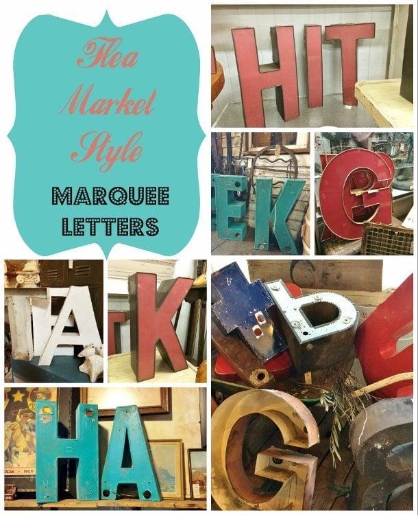 Flea Market Style Marquee Letters