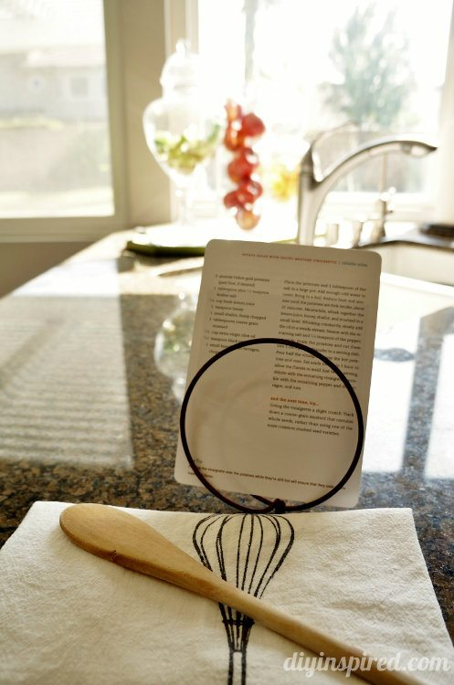 Repurposed Bed Springs Recipe Holder