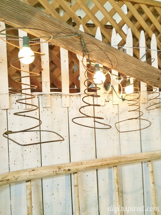 Repurposed Lighting with Bed Springs