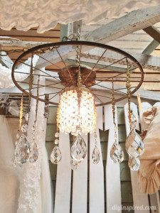 Repurposed Lighting with Bicycle Wheels (2)
