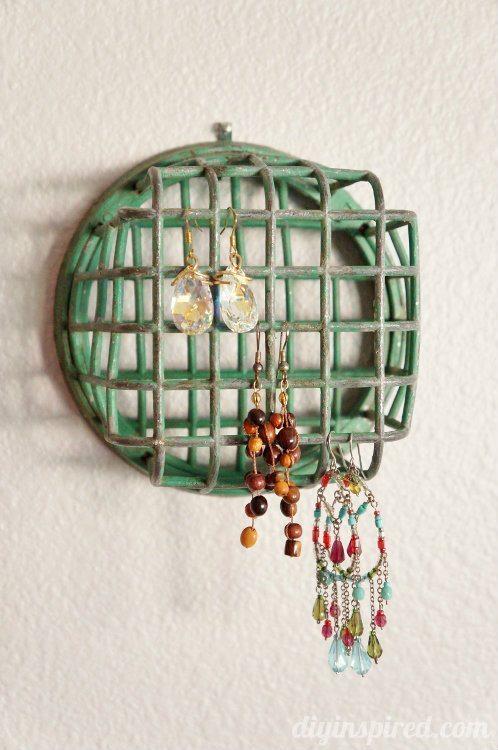 Repurposing Ideas Flower Frog Jewelry Holder