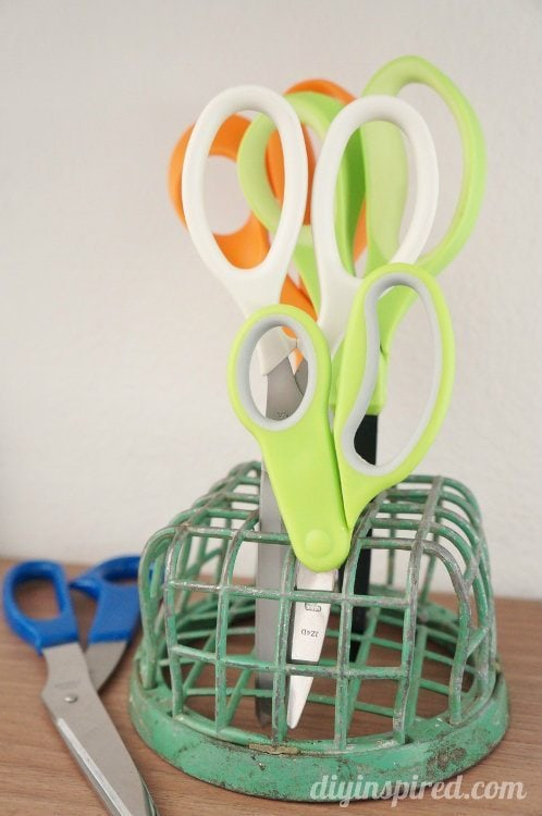 Repurposing Ideas Flower Frogs to Hold Scissors