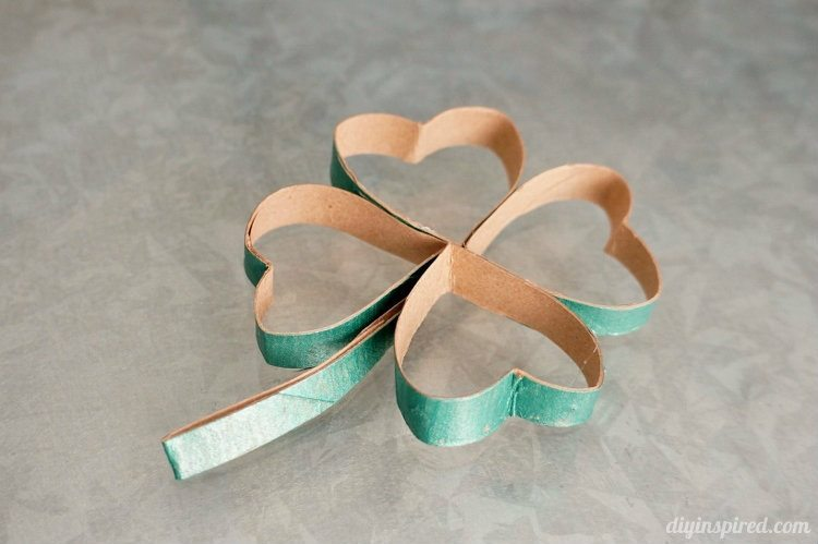 Toilet Paper Roll Four Leaf Clover