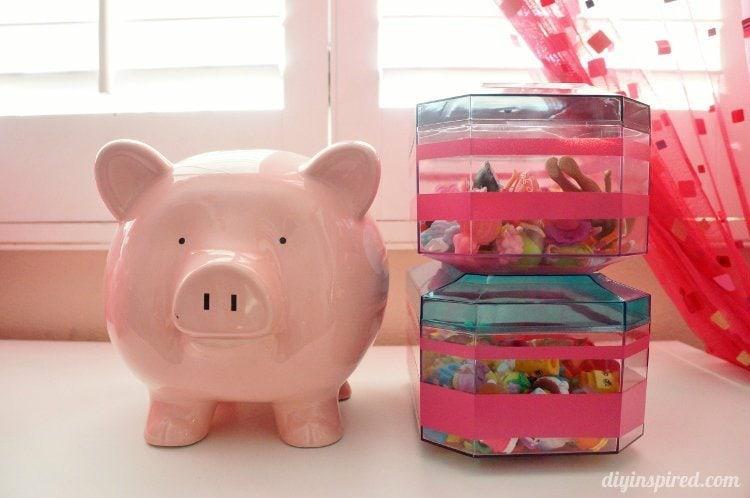 Upcycled Dollar Bin Toy Storage