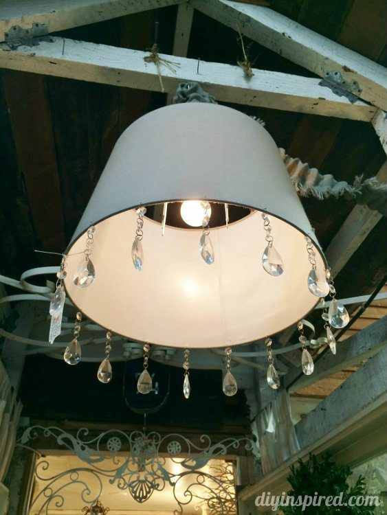 Upcycling And Repurposing Ideas For Lighting DIY Inspired - Upcycled chandelier crystals