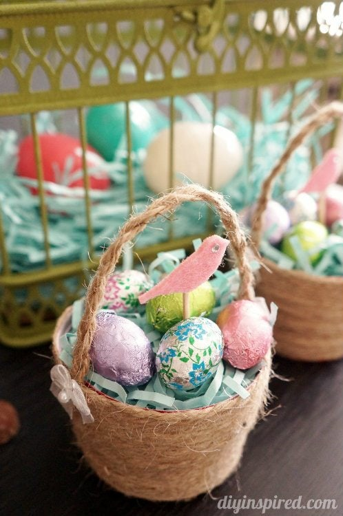Upcycled Plastic Cup Mini Easter Baskets