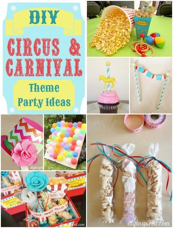 DIY Circus and Carnival Party Ideas - DIY Inspired