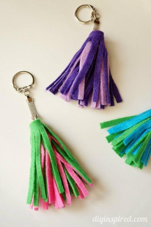 DIY Felt Tassel Key Chains