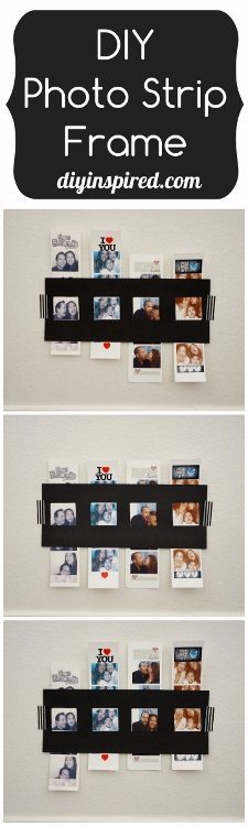 DIY Photo Strip Frame with Paper