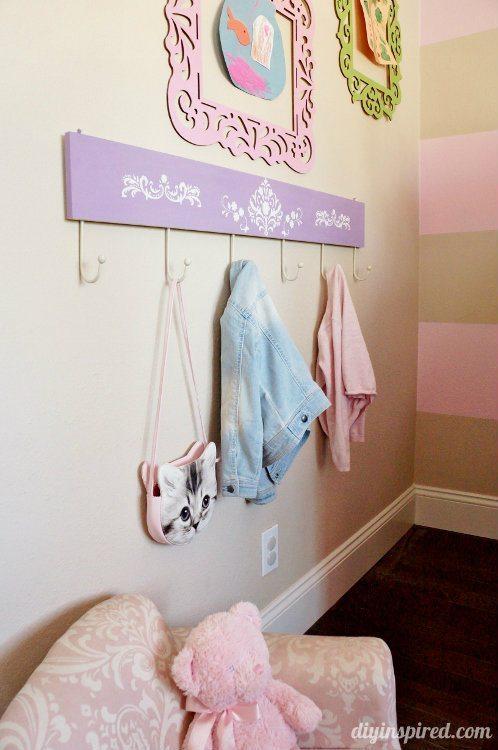 DIY Stenciled Coat Hanger for Kids