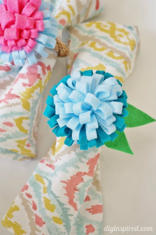 Felt Flower Napkin Rings