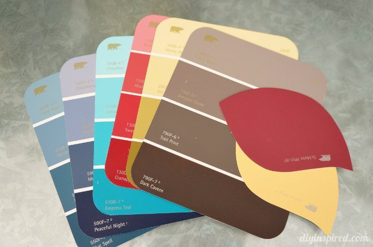 Paint Sample paint color sample bookmarks - diy inspired