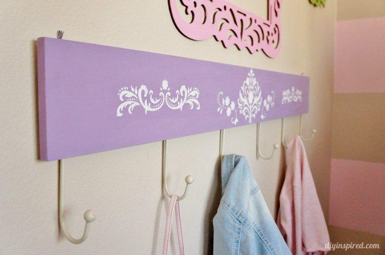 Stenciled Coat Hanger for a Kids Room