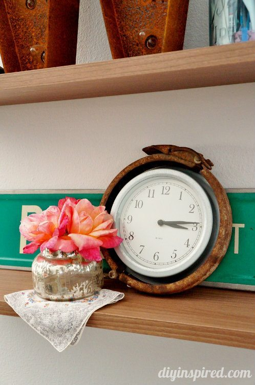 Trash to Treasure Clock Repurposing Idea