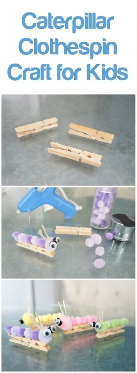 Caterpillar Clothespin Craft for Kids