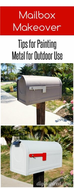 Collage Mailbox Painting Metal for Outdoor Use
