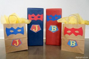 Creative Superhero Gift Wrapping