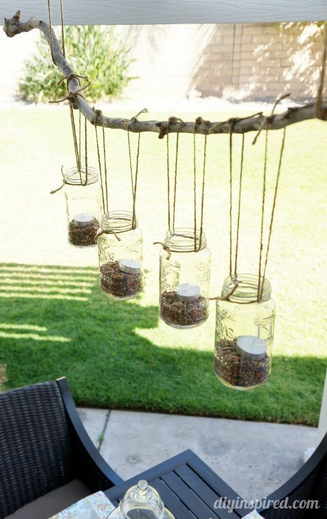 DIY Mason Jar Chandalier for the Patio