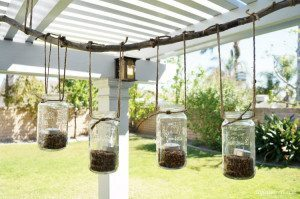 DIY Repurposed Mason Jar Chandelier