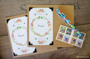 DIY Thank You Postcards