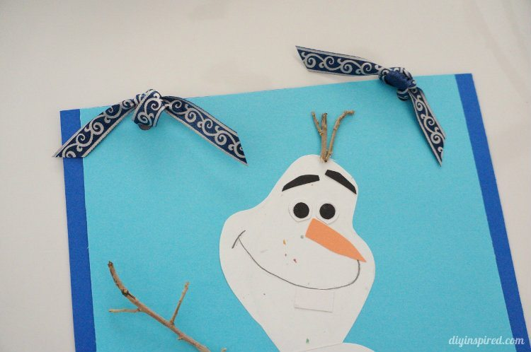 frozen gift wrapping with diy olaf card diy inspired