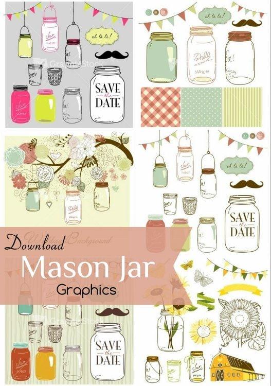 GraphicStock Mason Jar Graphics