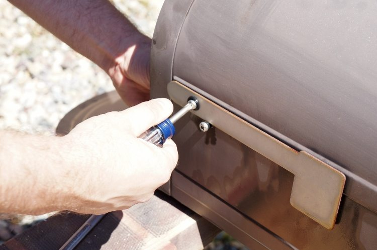Mailbox Makeover Remove Hardware