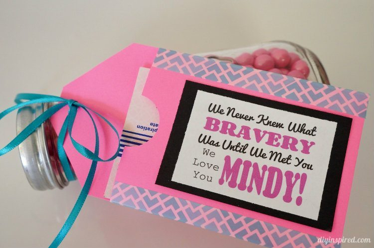 paper and washi tape gift card holder breast cancer survivor gifts