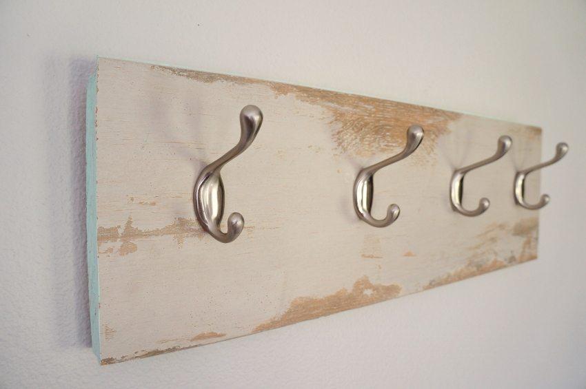 Repurposed Laminate Flooring Coat Hanger (10)