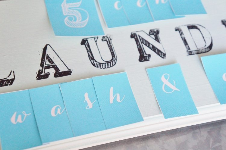 Stenciled Laundry Room Sign