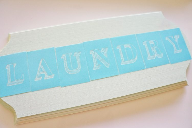 Diy wooden laundry room sign diy inspired for What kind of paint to use on kitchen cabinets for vase candle holder centerpiece