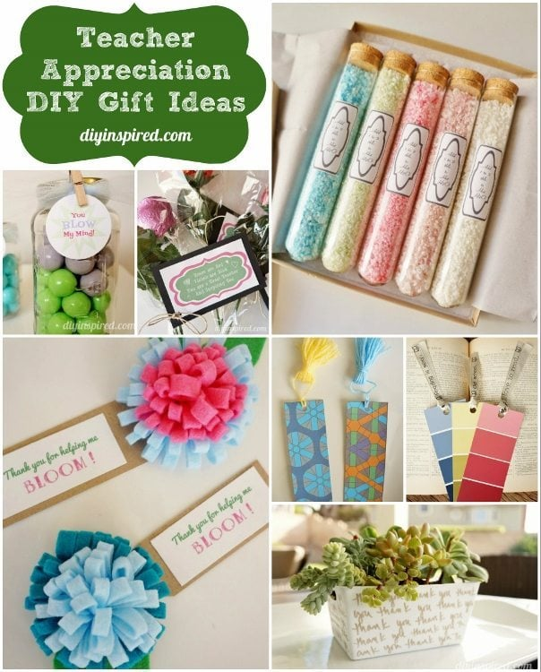 Teacher Appreciation Diy Gift Ideas Diy Inspired
