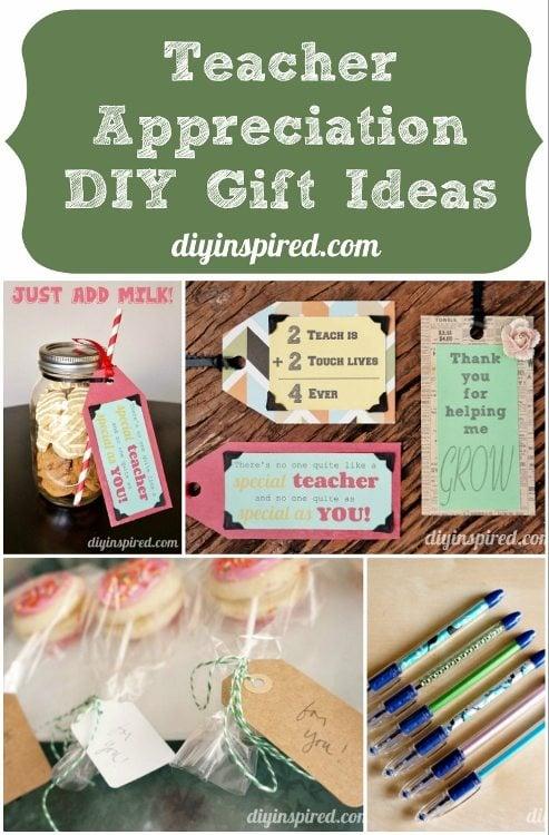 Teacher Appreciation DIY Gift Ideas