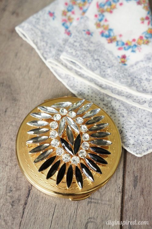 Upcycled Vintage Compact Bohemian Inspired