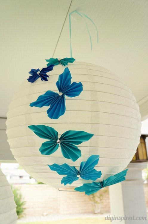 Accordion Butterfly Birthday Lanterns