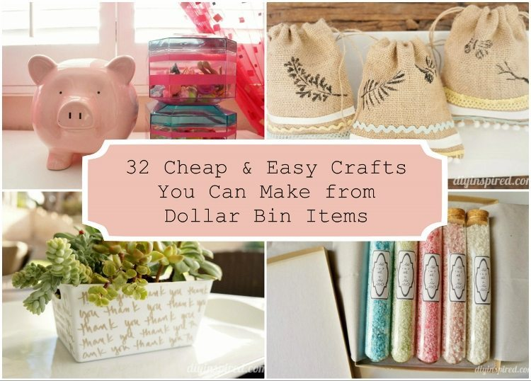32 cheap and easy crafts you can make from dollar bin