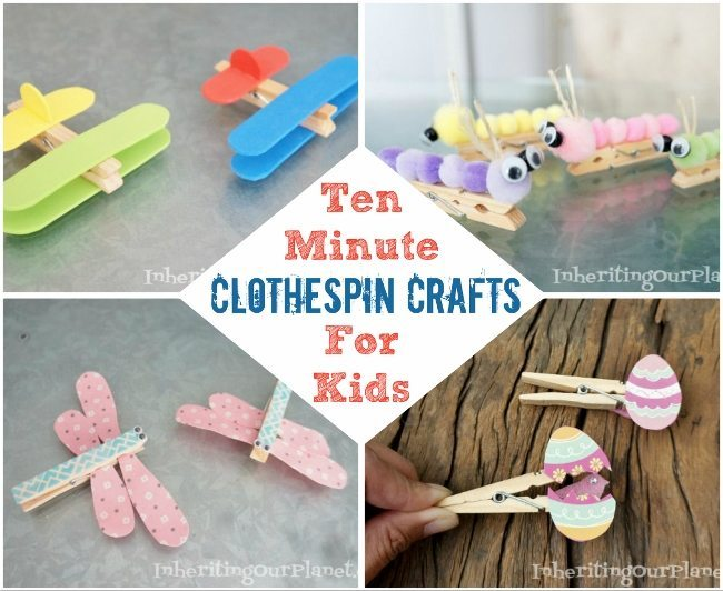 Ten minute clothespin crafts for kids diy inspired for Mini clothespin craft ideas