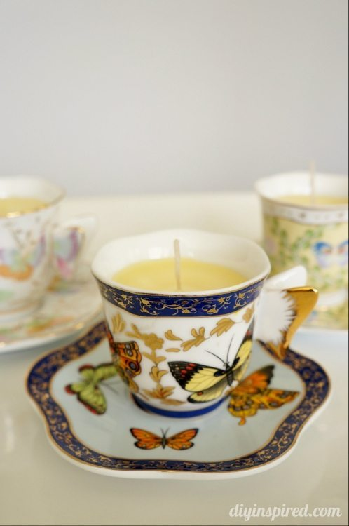 DIY Scented Teacup Candle for Mother's Day
