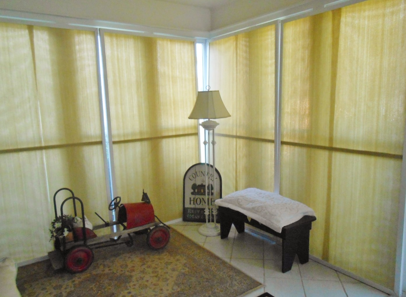 DIY Sunroom Window Treatments - DIY Inspired