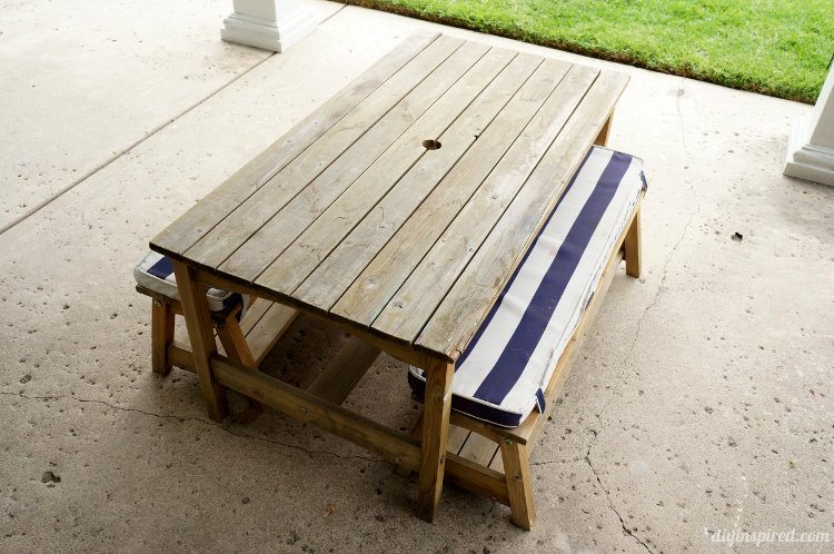 Superbe Kids Picnic Table Makeover