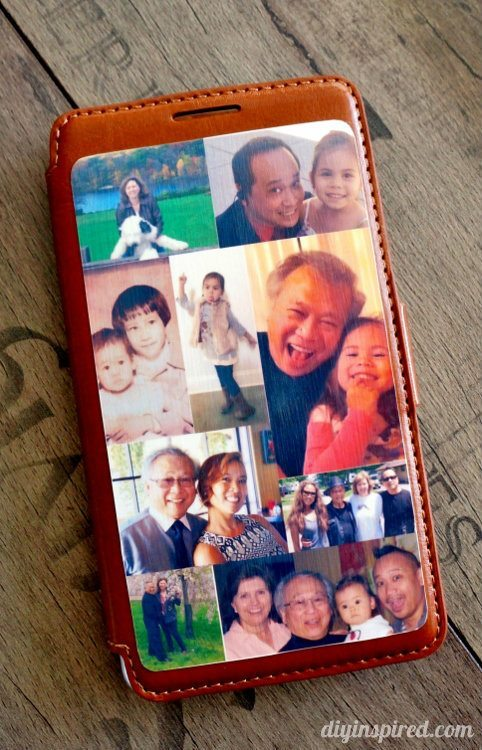 Mod Podge Leather Phone Case - Photo Craft