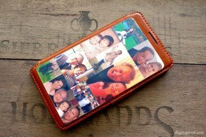 Mod Podge Photos on Leather Phone Case