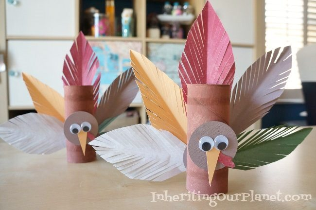 Turkey toilet paper roll craft diy inspired for Toilet paper roll crafts thanksgiving