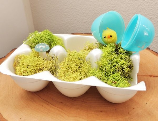 Egg carton easter decoration diy inspired for Egg carton room