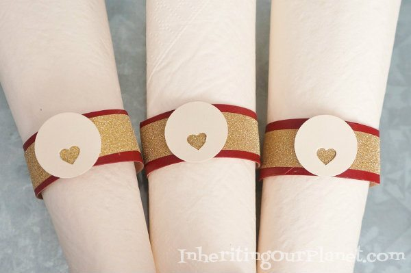 Paper towel roll napkin rings diy inspired for Uses for paper towel rolls