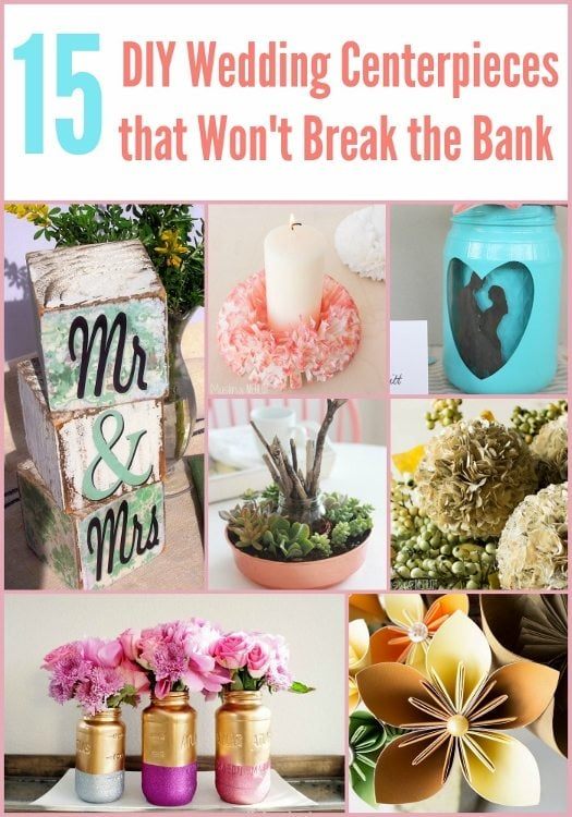 15 DIY Wedding Centerpieces that Won't Break the Bank-DIY Inspired