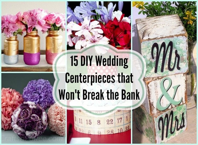 15 diy wedding centerpieces that won 39 t break the bank diy inspired. Black Bedroom Furniture Sets. Home Design Ideas
