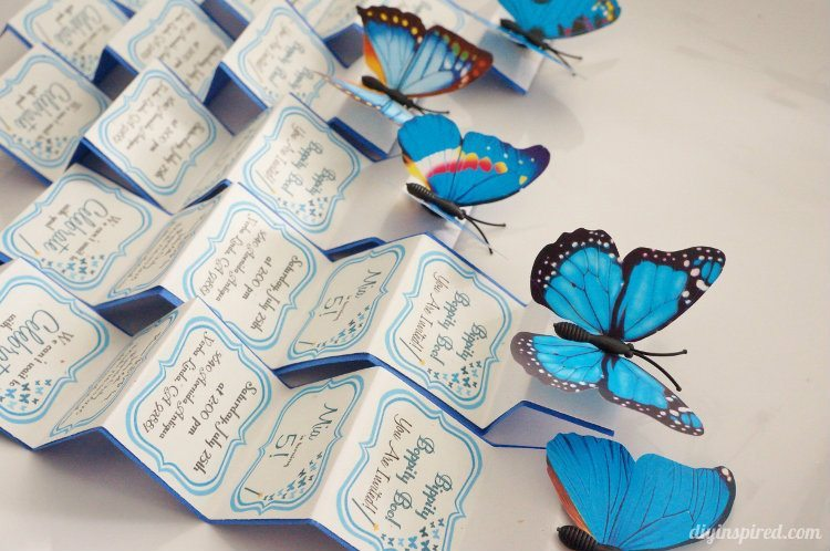Butterfly Birthday Party Invitation in a Box DIY Inspired
